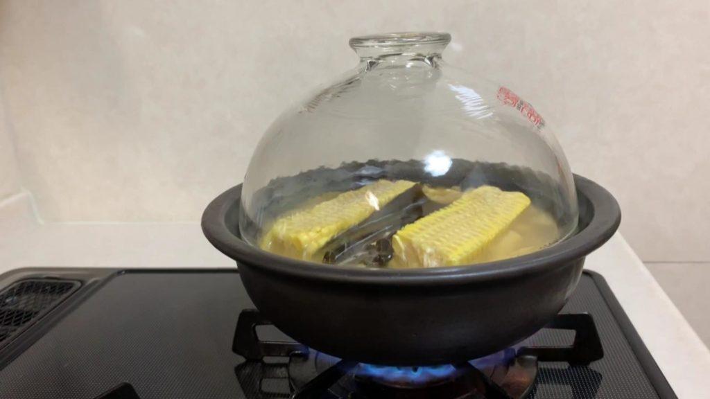 土鍋でとうもろこしご飯