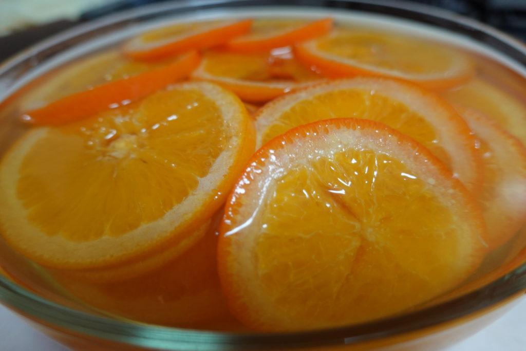オレンジのシロップ漬