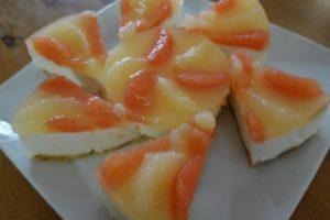 グレープフルーツヨーグルトムースケーキ